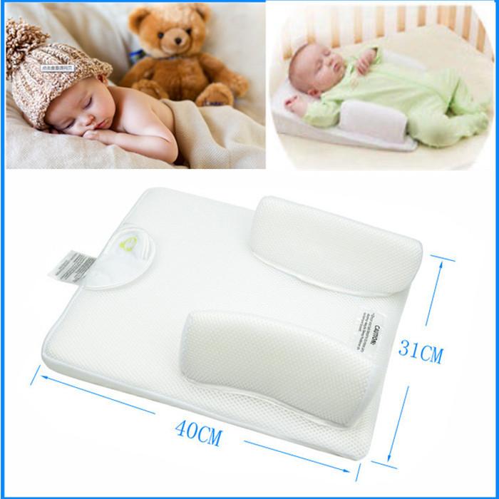 Baby Newborn Safe Anti Roll Pillow Sleep Positioner