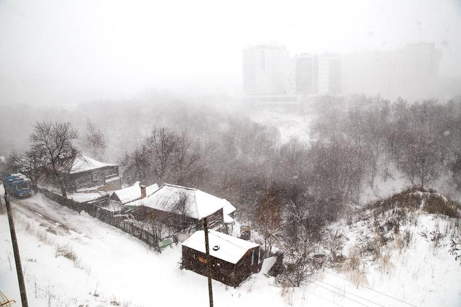 Зима в Чебоксарах.
