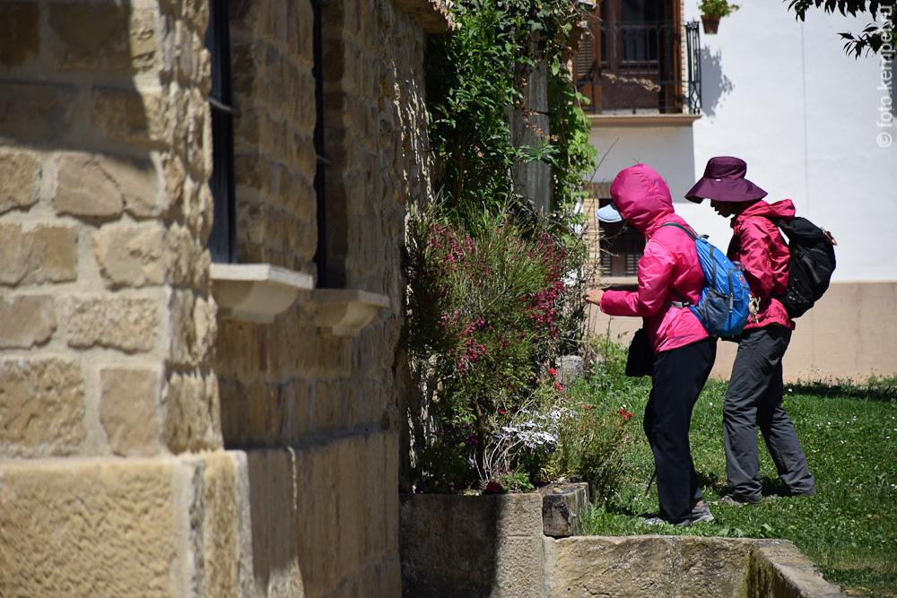 Китайские туристы летом ходят в дождевиках и шляпах от солнца