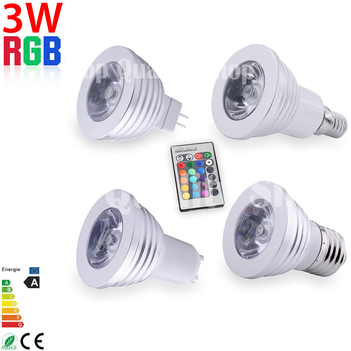 gu10 mr16 e14 e27 3w fernbedienung farbwechsel rgb led spot licht light lampe ebay. Black Bedroom Furniture Sets. Home Design Ideas