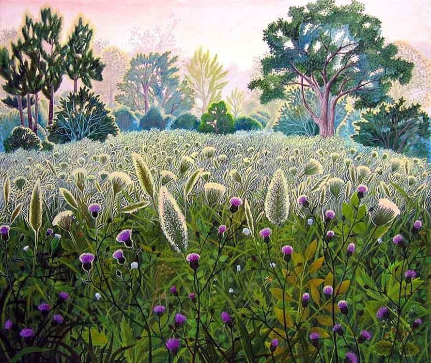 Поля и деревья России на картинах мастров художников