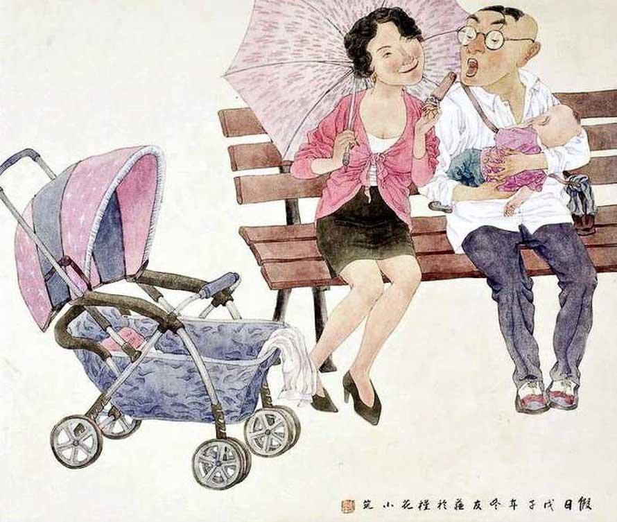 Семейная пара и их красивая жизнь влюбленных