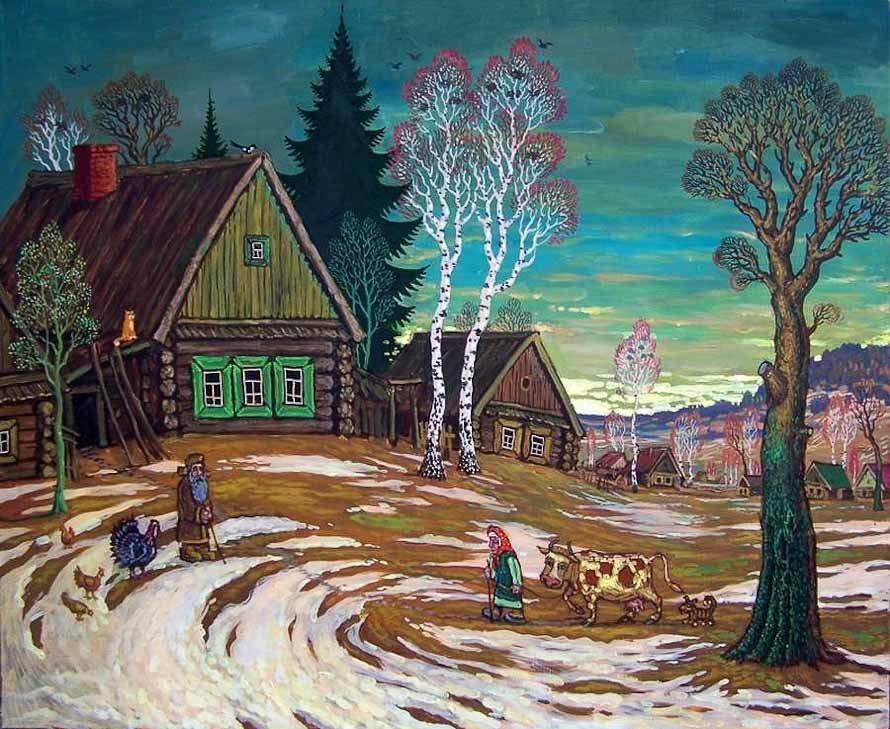 Русские пейзажи - страна мастеров художников