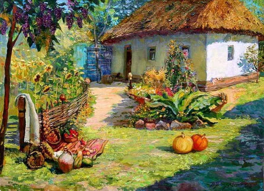 Дома в городе и сельские домики