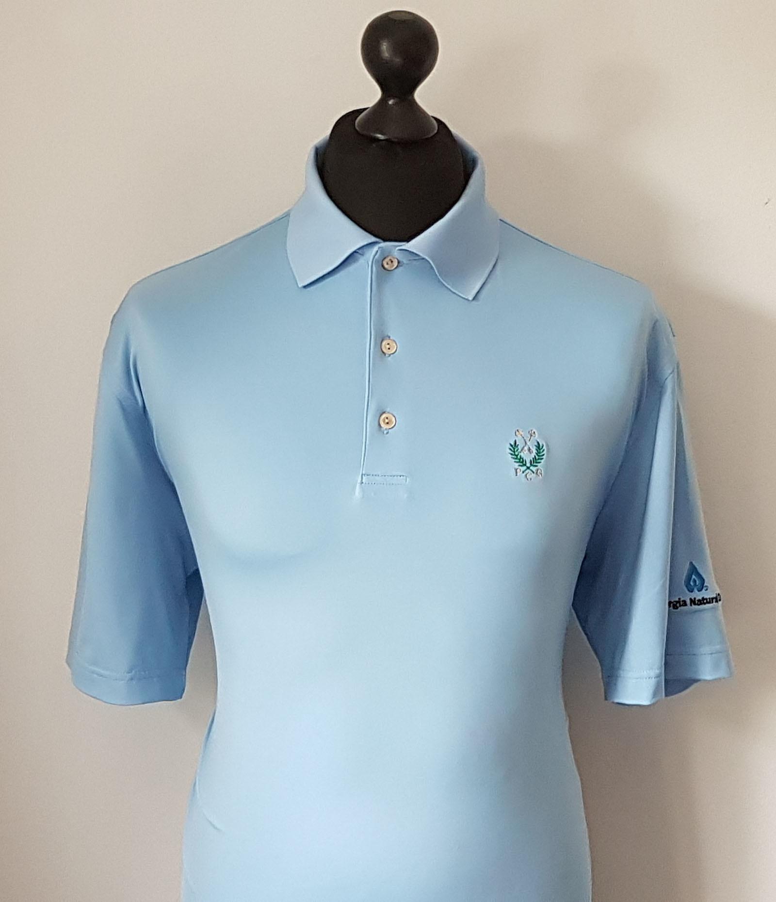 Peter millar summer comfort men 39 s vibrant blue golf polo for Peter millar golf shirts