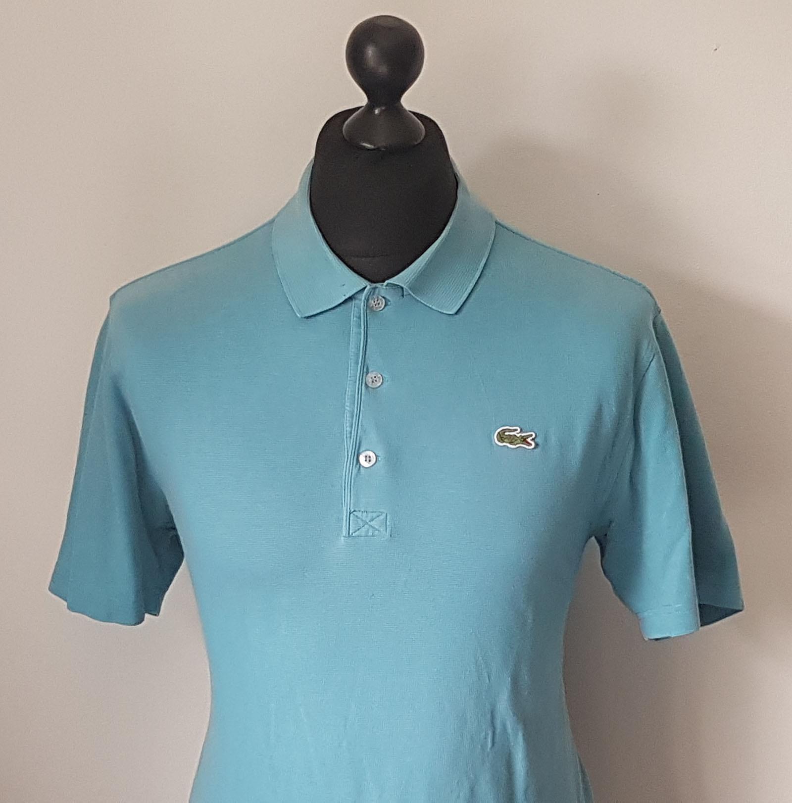 Lacoste men 39 s vintage devanlay vibrant blue polo shirt for Lacoste size 4 polo shirt