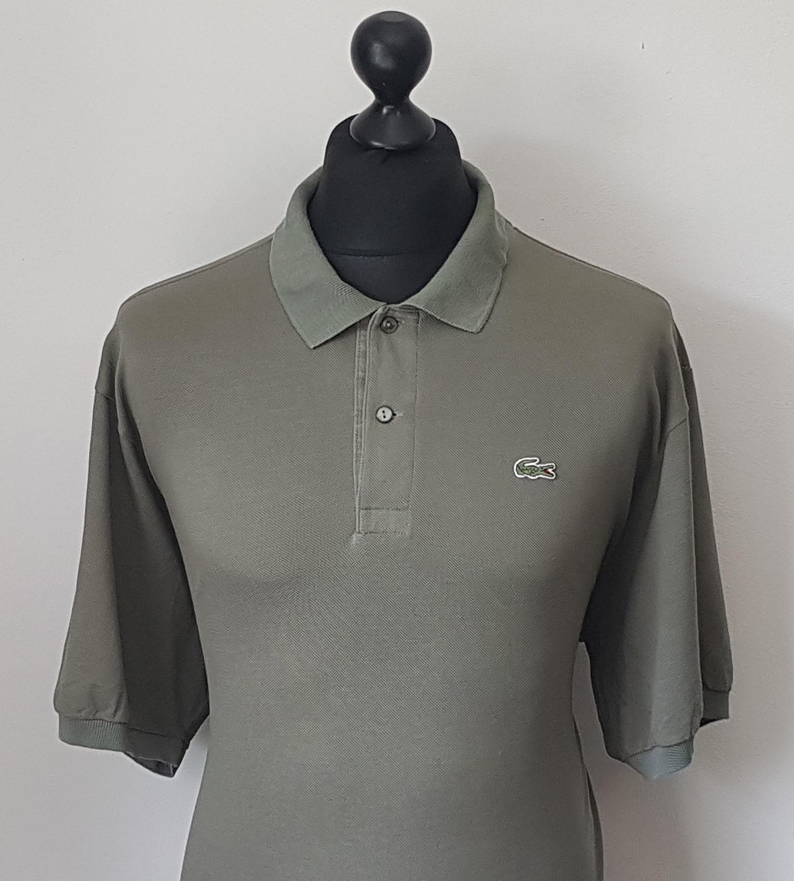 Lacoste men 39 s vintage dark green polo shirt size 8 xxl for Lacoste polo shirts ebay