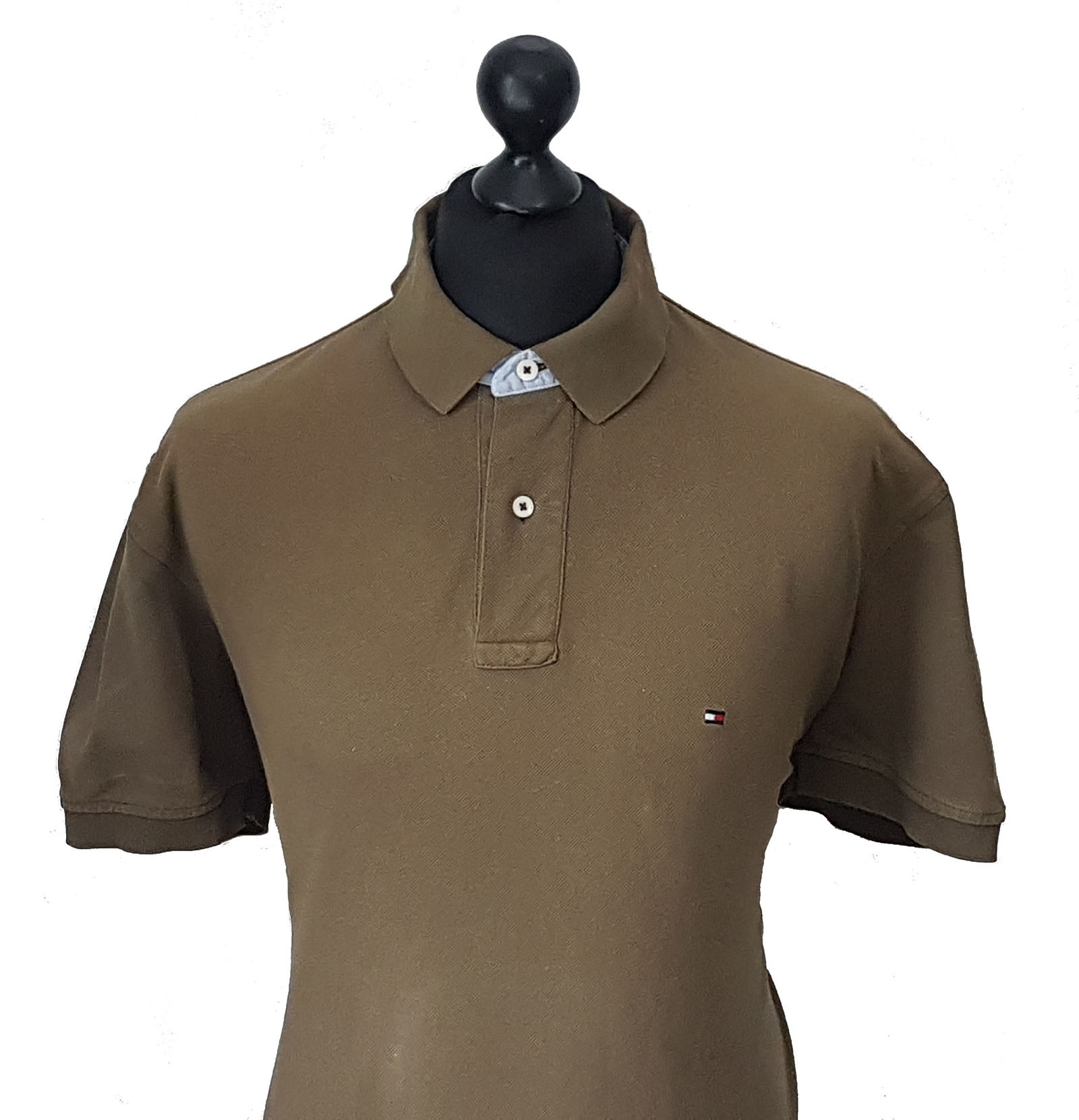Tommy hilfiger men 39 s vintage olive polo shirt size xl xxl for Xxl mens polo shirts