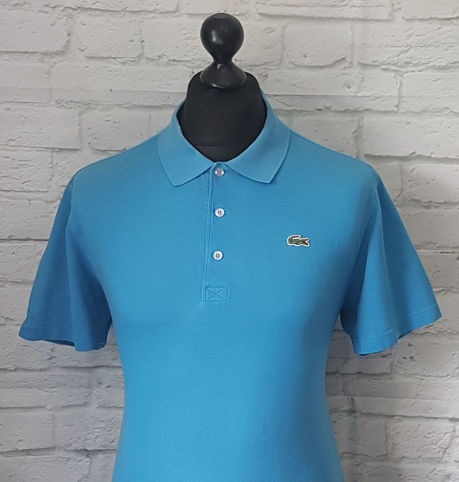 Lacoste sport men 39 s vintage devanlay vibrant blue polo for Lacoste size 4 polo shirt