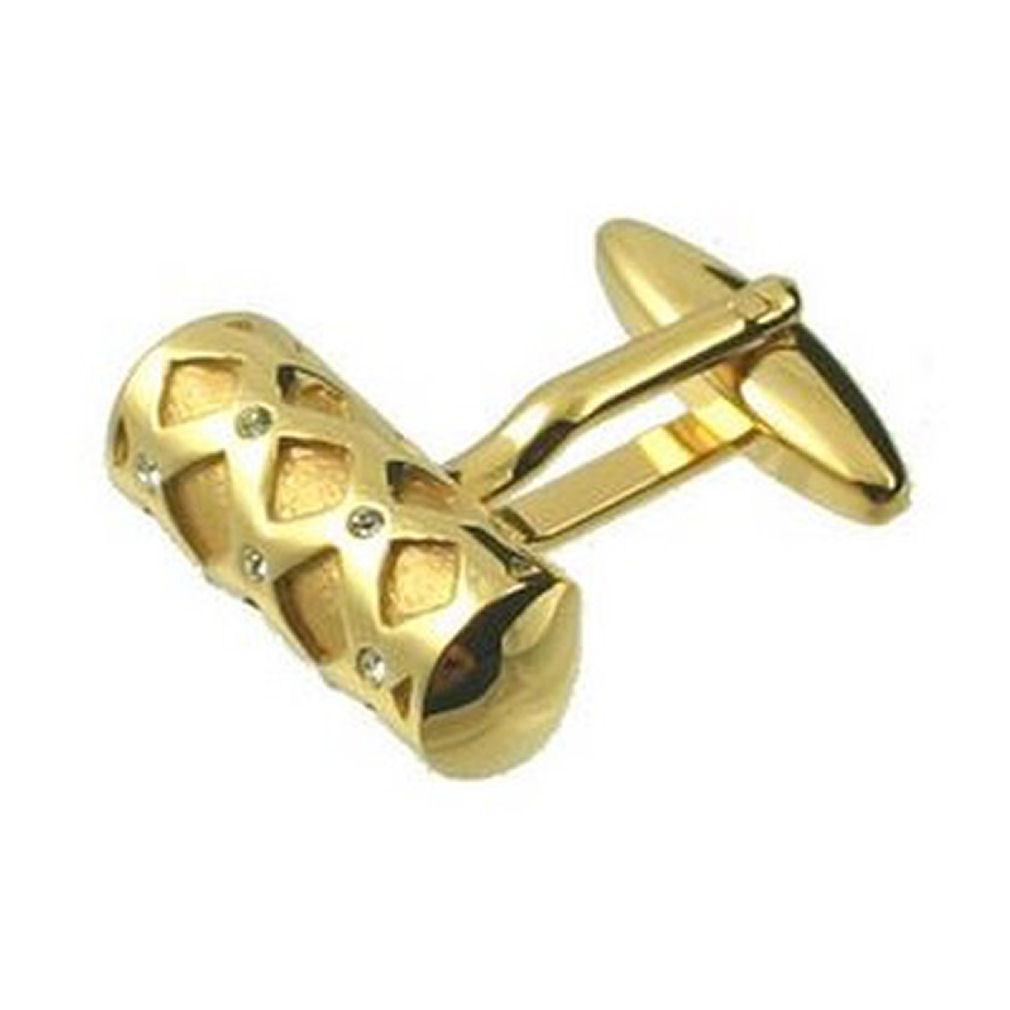 CILINDRO Gemelli in oro oro oro oro barra di cristallo Tudor Incisa Personalizzata Scatola 43582c
