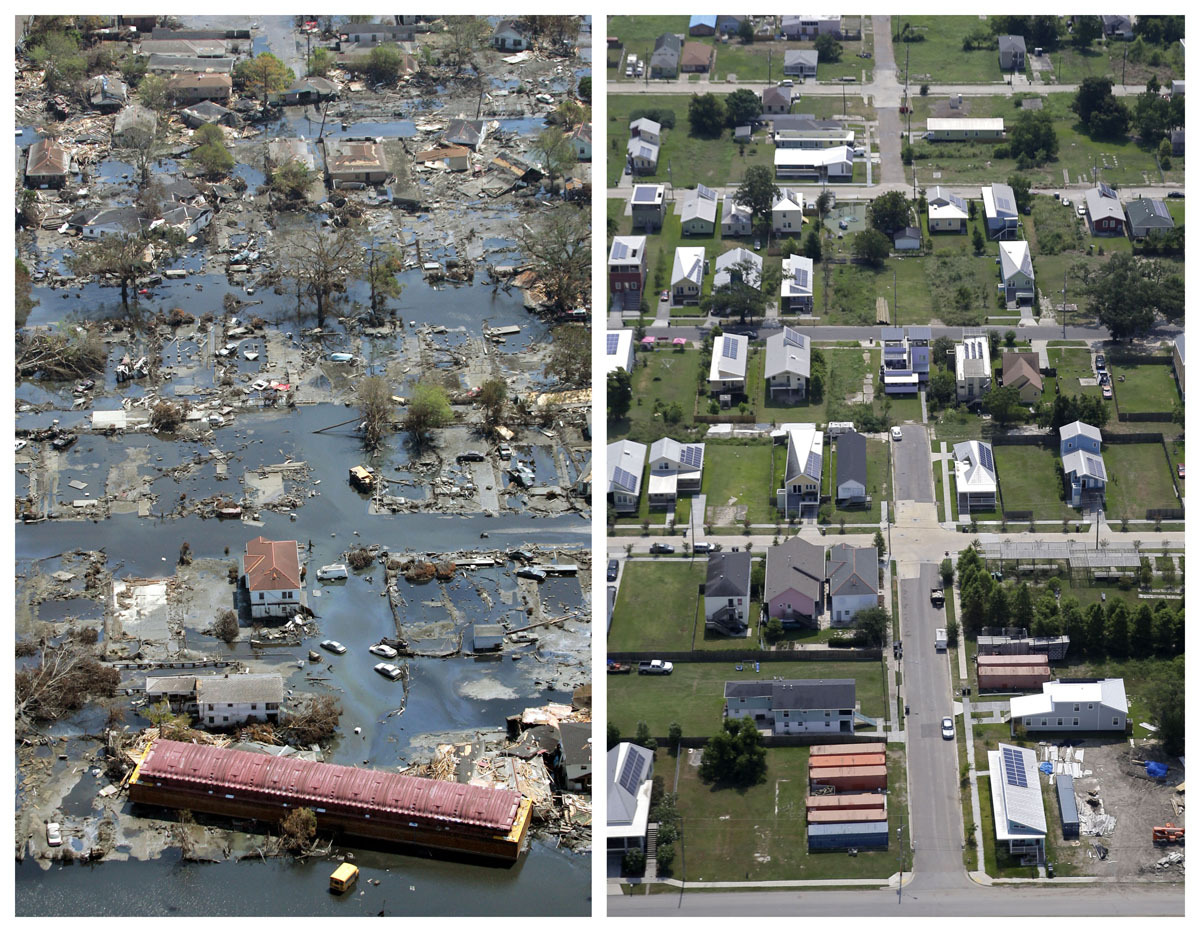 the physical and emotional destruction caused by the hurricane katrina in the city of new orleans Hurricane katrina  caused millions of dollars in damage and left a death toll in the the city of new orleans has improved resident access to evacuation and.