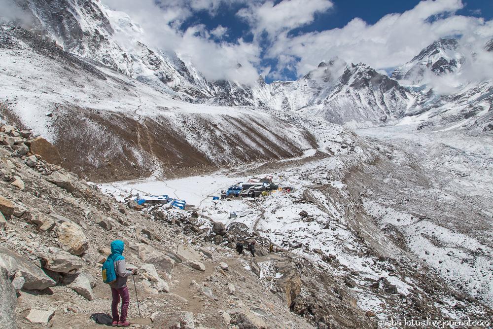 Треккинг к Эвересту. День 11: Лобуче - Горакшеп - базовый лагерь Эвереста