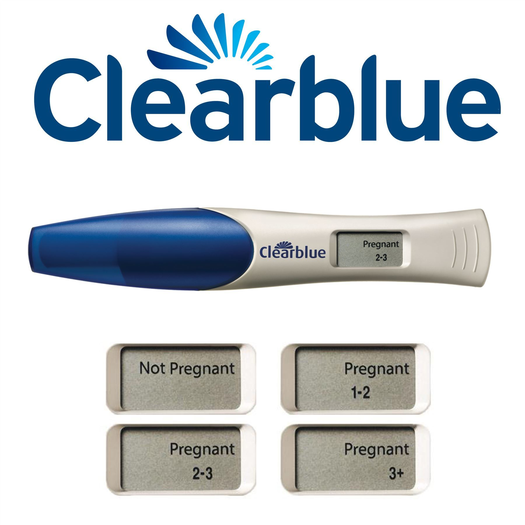 Clearblue Pregnancy Test (2 Tests) Digital with Weeks ...