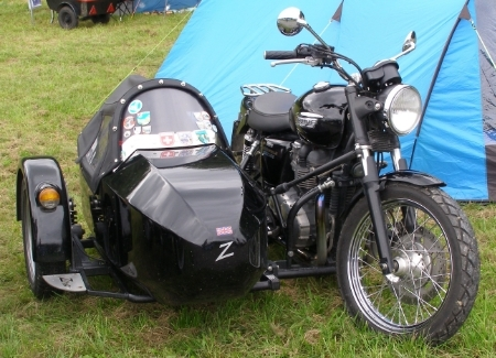 Triumph with sidecar