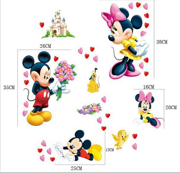 micky maus wandtattoo wandsticker xxl mickey mouse kinderzimmer wandaufkleber ebay. Black Bedroom Furniture Sets. Home Design Ideas