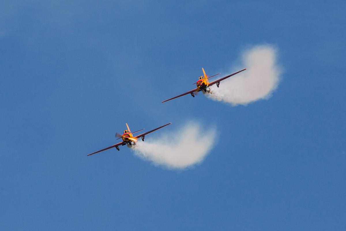 Первый полет, парный пилотаж на Як-52