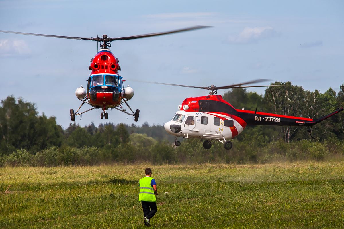 Вертолетный слалом: Ми-2