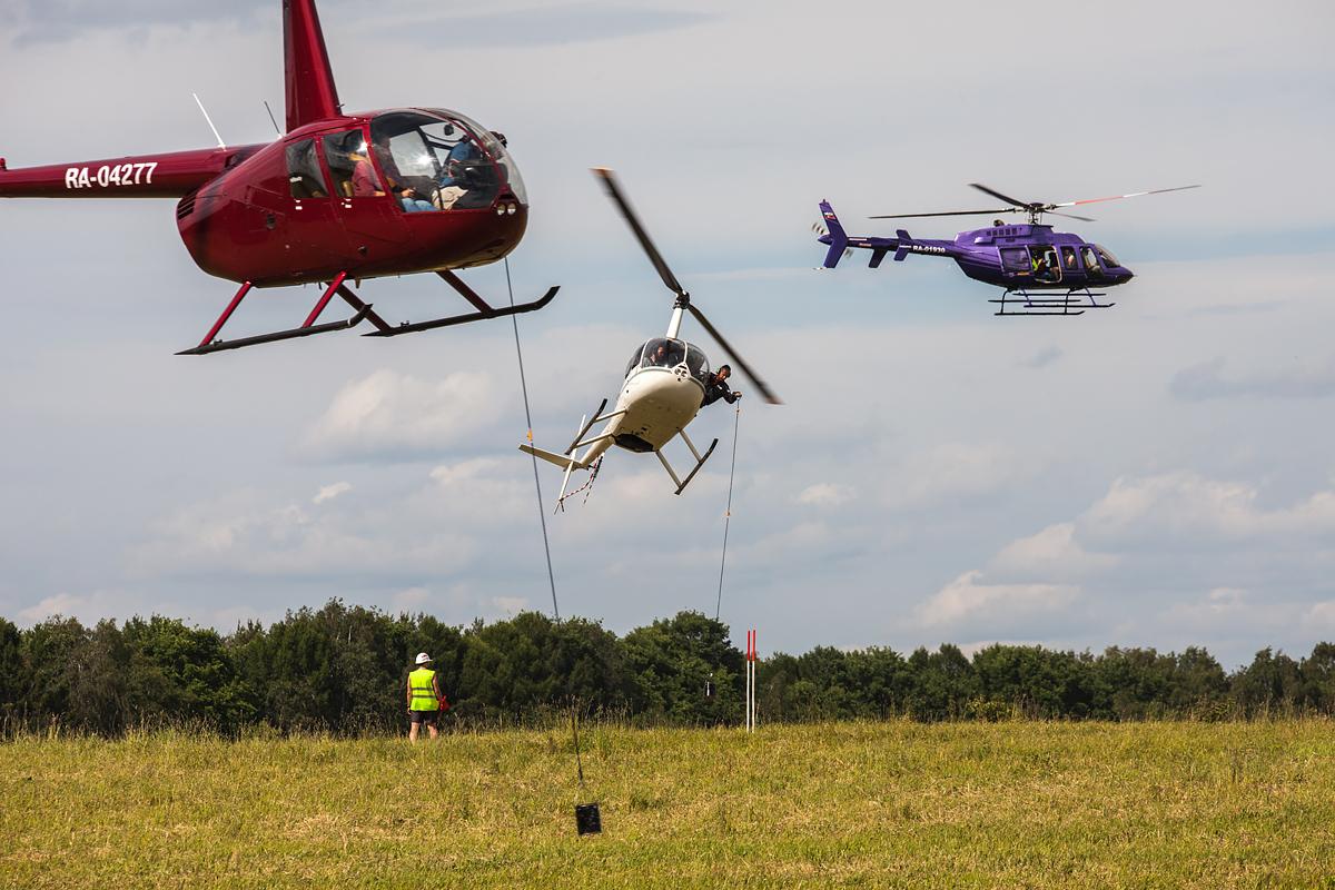 Вертолетный слалом: два Robinson-44 и Bell 407