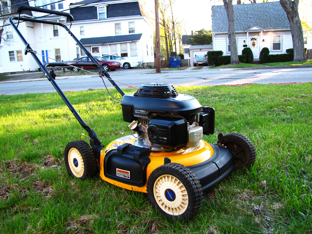 how to get lawn mower started after winter