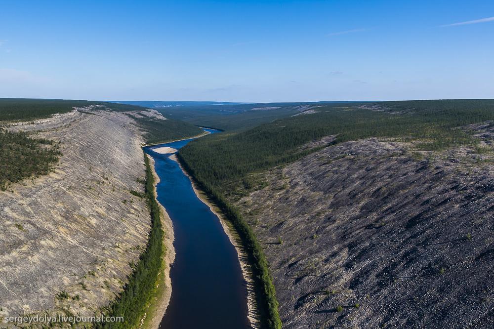Сплав по реке Котуйкан. Часть 2. Таймыр с вертолета