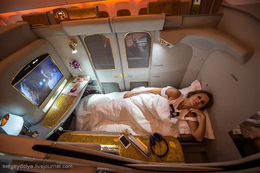 Полет первым классом на авиакомпании Emirates