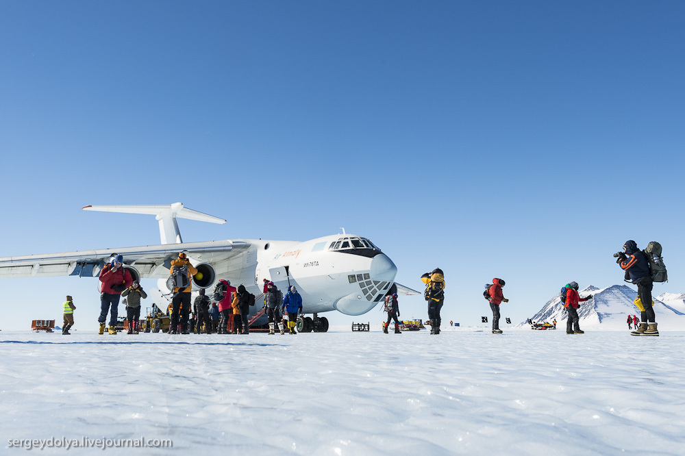 Южный Полюс. Перелет в Антарктиду на ИЛ-76