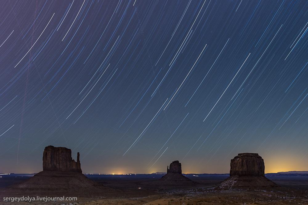 Движение звезд над Долиной Монументов или какие фотки вешать в Инстаграм