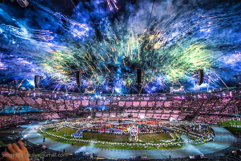 Открытие Олимпиады 2012. Часть 3. Фейерверки
