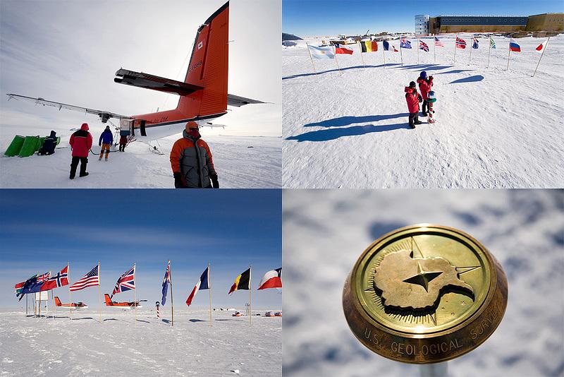 Южный Полюс в декабре