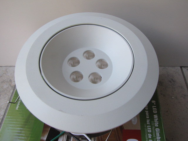 Commercial Electric 6 In Recessed LED Retrofit Trim White CER672WH